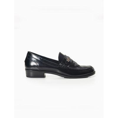 Sapato Feminino Tipo Mocassim Couro Preto