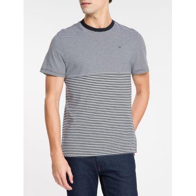 Camiseta Masculina Listras Preto e Branco