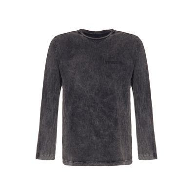 Camiseta Ml Regular Silk Meia Marm Gc - Preto