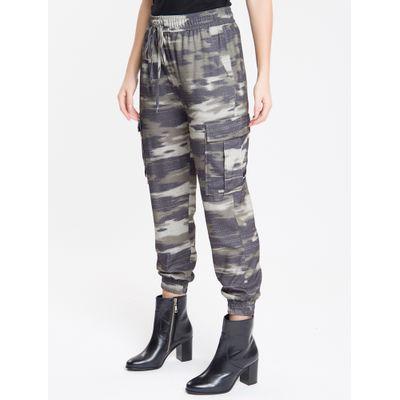 Calça Full Com Punho Camuflado - Militar