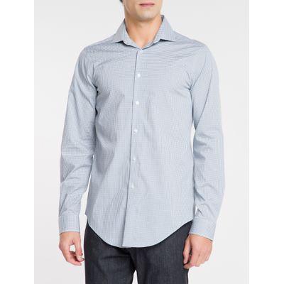 Camisa Mg Longa Masculina Xadrez