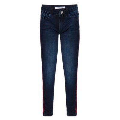 Calça Jeans Five Pockets Skinny Logo - Marinho