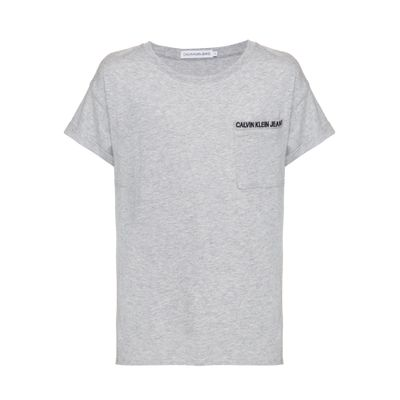 Camiseta Mc Ckj Pocket Embroidery - Mescla