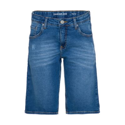 Bermuda Jeans Five Pockets - Azul Claro