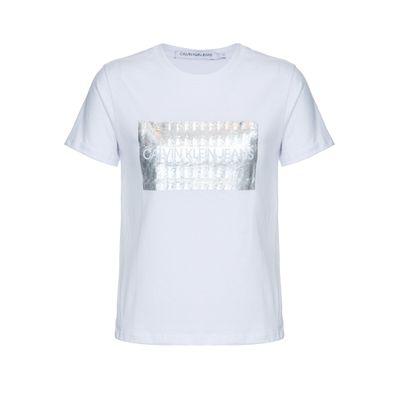 Blusa Mc Reg Logo Meia Reat Gc Holo - Branco