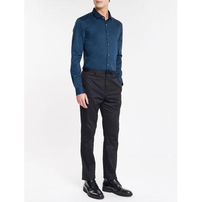 Camisa Slim Cannes Toque Suave - Azul Marinho