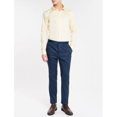 Camisa Slim Cannes Toque Suave - Amarelo Claro