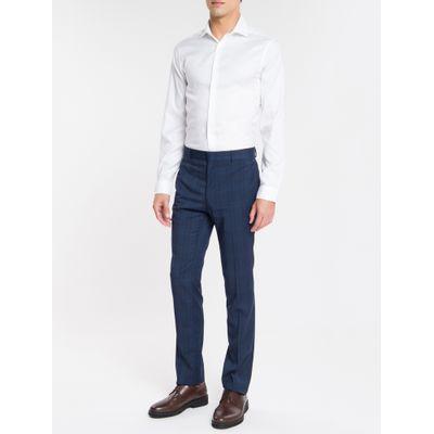 Camisa Básica Slim Fit Iron Com Elastano - Branco