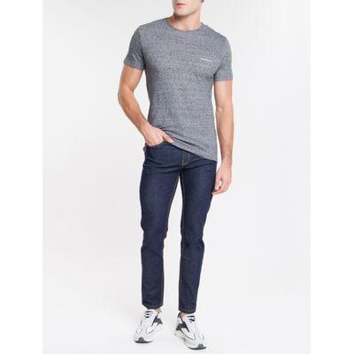 Camiseta Masculina Desfibrada Preta Calvin Klein Jeans
