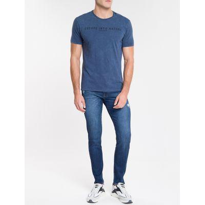 Camiseta Masculina Escape Into Nature Índigo Calvin Klein Jeans