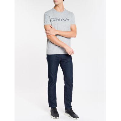 Camiseta Masculina Com Bolso Cinza Mescla