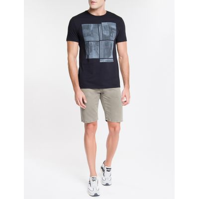 Camiseta Masculina Estampa Metrô NY Preta Calvin Klein Jeans