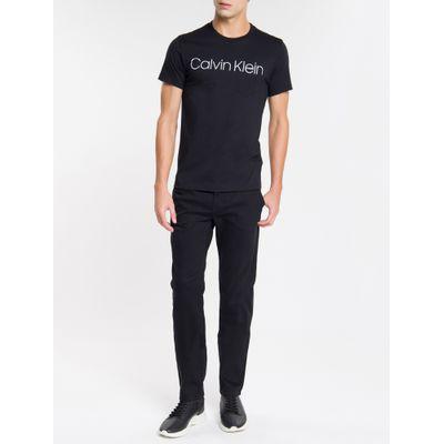 Camiseta Masculina Com Bolso Preta