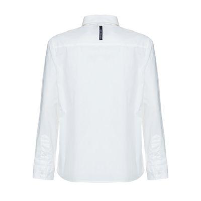Camisa Ml Ckj Lisa Básica Com Assinatura - Off White