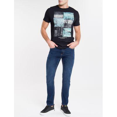 Camiseta Masculina Forest Glitch Preta Calvin Klein Jeans