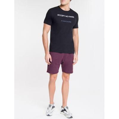 Camiseta Masculina Accept No Fakes Preta Calvin Klein Jeans