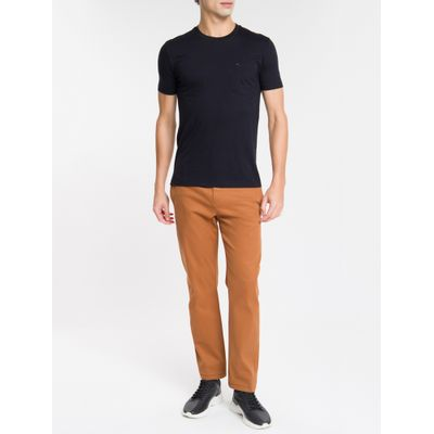 Camiseta Mc Slim Basic Bolso Sustainable - Preto
