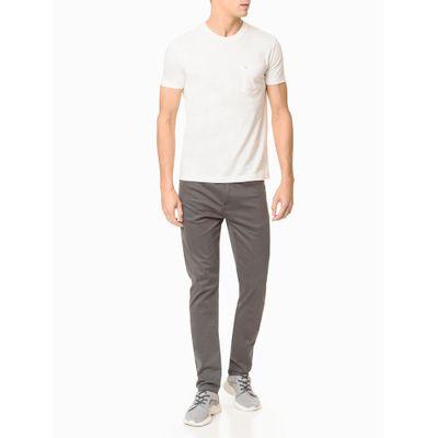 Camiseta Mc Slim Basic Bolso Sustainable - Branco