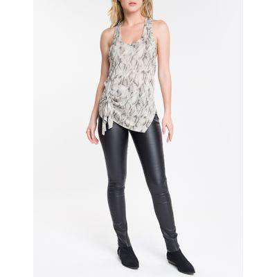 Blusa Regata Feminina Estampa de Cobra Nude Calvin Klein Jeans
