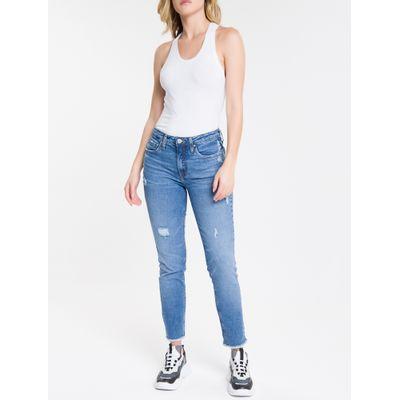 Blusa Regata Feminina Básica Branca Calvin Klein Jeans
