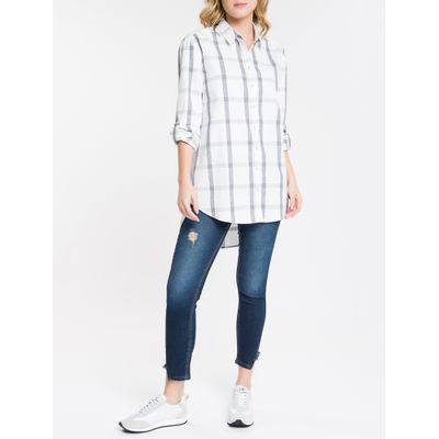 Camisa Ml Reg Full Alg Ampla - Branco
