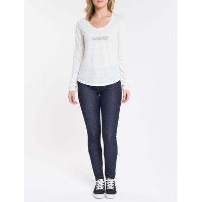 Blusa Feminina Logo Mirror Sustentável Branca Calvin Klein Jeans