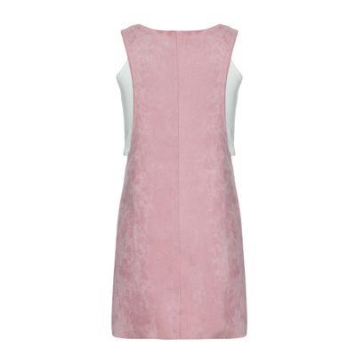 Vestido Malha Sm Curto Liso Sued - Rosa Claro