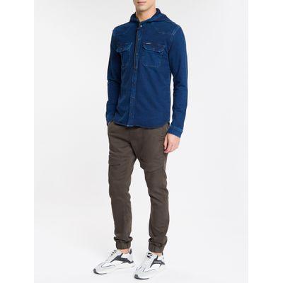 Camisa Jeans Fam Indigo Overshirt - Marinho