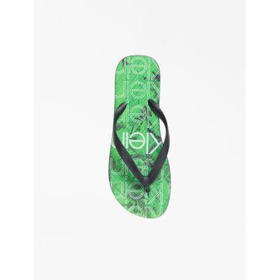 Chinelo Swimwear Masc Transfer Logo Flo - Verde Escuro