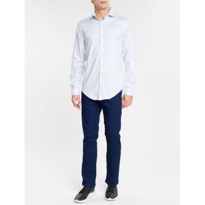 Camisa Mg Longa Masculina Maquinetado
