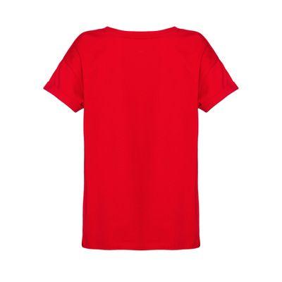Camiseta Mc Ckj Pocket Embroidery - Vermelho