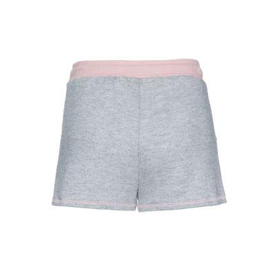 Shorts Circular Liso Reto Rolo Bordado - Mescla