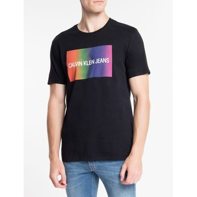 Camiseta Masculina Pride Preta Calvin Klein Jeans
