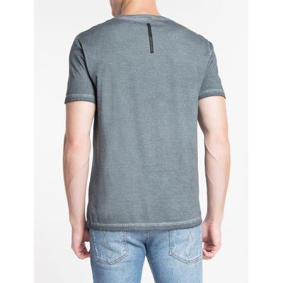 Camiseta Masculina Básica Estonada Chumbo Calvin Klein Jeans