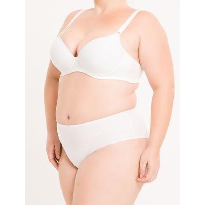 Sutiã Bojo De Microfibra Plus Size - Branco