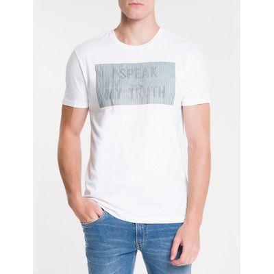 Camiseta Masculina I Speak My Truth Branca Calvin Klein Jeans