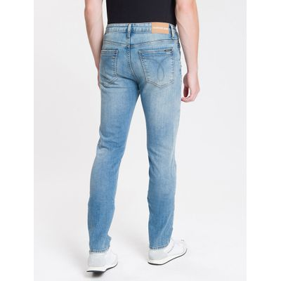 Calça Jeans Five Pockets Slim - Azul Médio