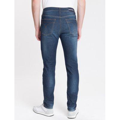 Calça Jeans Five Pockets Slim - Marinho