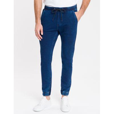 Calça Jeans Masculina Fam Indigo Athletic Taper Cintura Baixa Azul Marinho Calvin Klein