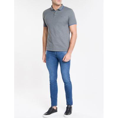 Calça Jeans Masculina Five Pockets Skinny Cintura Baixa Azul Marinho Calvin Klein