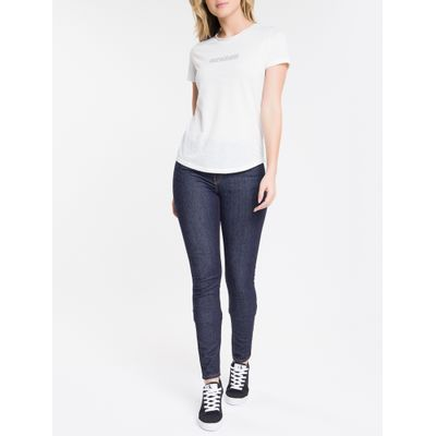 Calça Jeans Feminina Five Pockets Super Skinny Cintura Super Alta Azul Marinho Calvin Klein