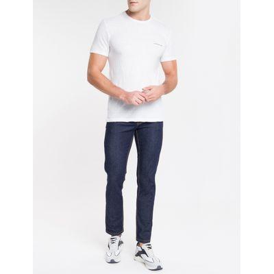 Calça Jeans Masculina Five Pockets Slim Cintura Baixa Azul Marinho Calvin Klein