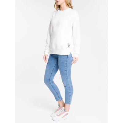 Calça Jeans Feminina Five Pockets Skinny Cintura Média Azul Claro Calvin Klein
