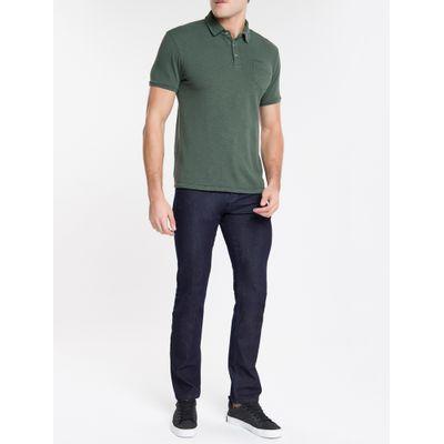 Calça Jeans Masculina Five Pockets Reta Cintura Regular Azul Marinho Calvin Klein