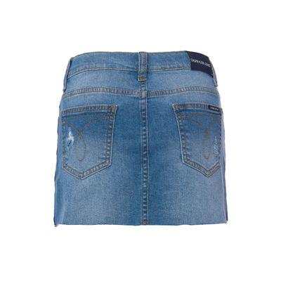 Saia Jeans Infantil Feminina Five Pockets Azul Clara Calvin Klein