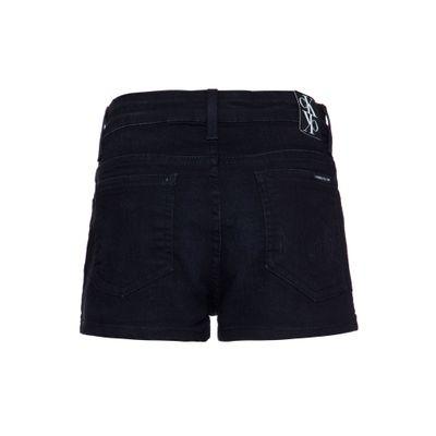 Shorts Jeans Feminino Infantil Five Pockets Cintura Alta Preto Calvin Klein