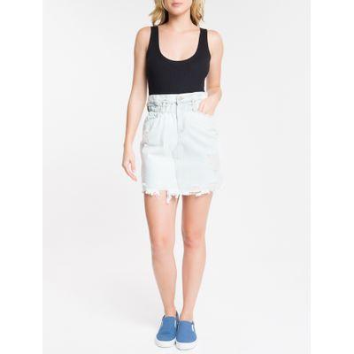 Saia Jeans Feminina Azul Clara Calvin Klein