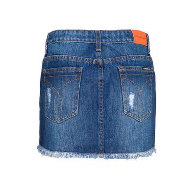 Saia Jeans Infantil Feminina Five Pockets Azul Médio Calvin Klein