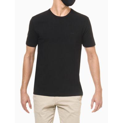 Camiseta Regular Básica Malha Pesada Exc - Preto