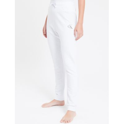 Calça Fem Piquetom Ck One Loungewear - Branco